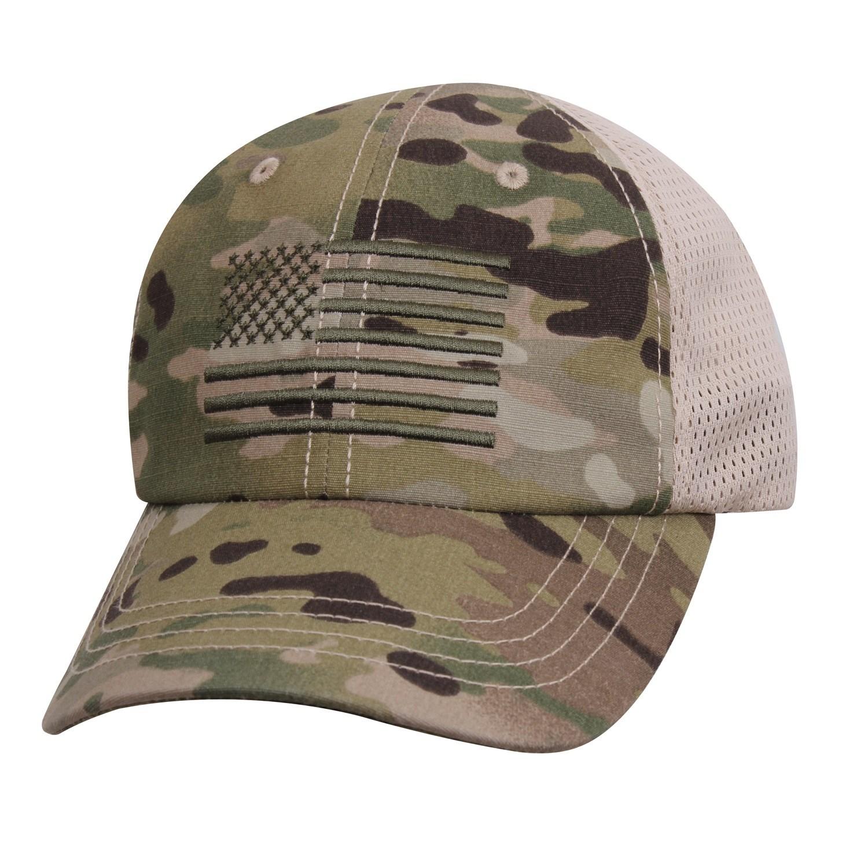 Čiapka baseball vlajka US sieťovaná MULTICAM®