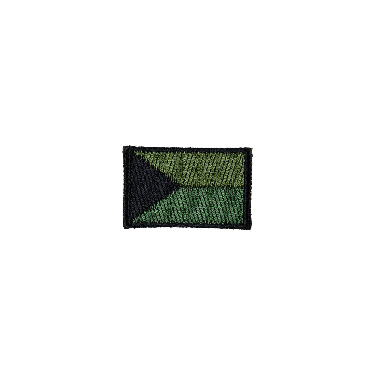 Nášivka ČR vlajka malá OLIV (40mm) VELCRO