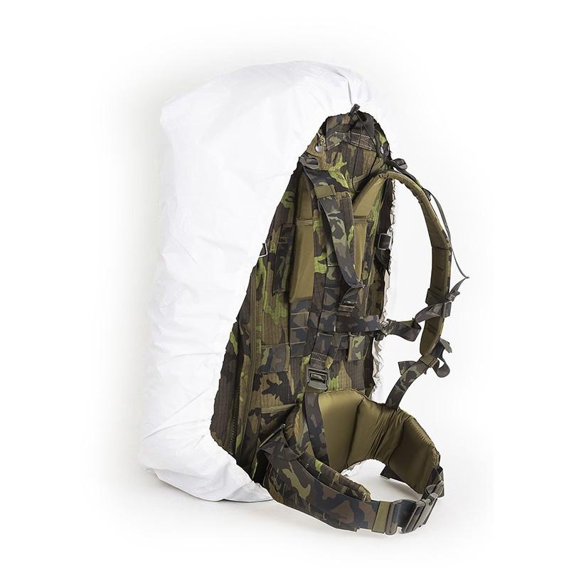 Prevlek maskovací zimný na batoh 60L BIELY