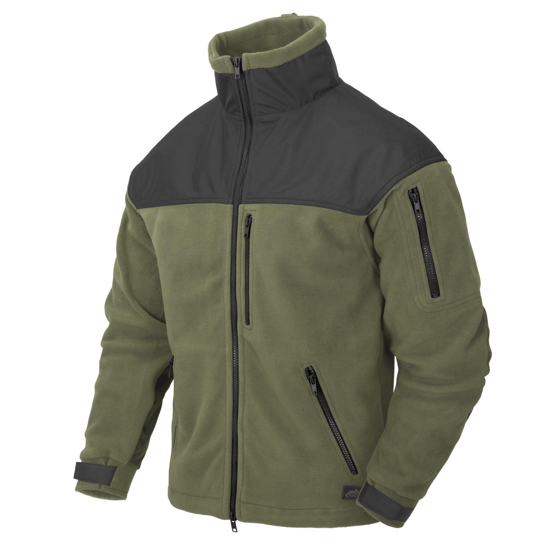 Bunda CLASSIC ARMY fleece ZELENOČIERNA Helikon-Tex® BL-CAF-FL-16 L-11