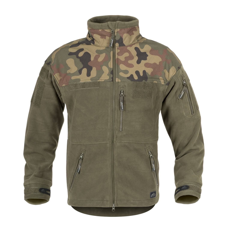 Bunda INFANTRY fleece OLIV/WOODLAND POĽSKÝ Helikon-Tex® BL-INF-HF-18 L-11
