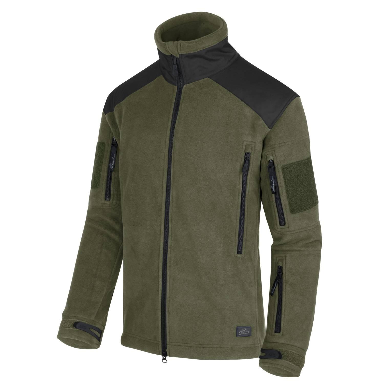 Bunda LIBERTY Heavy fleece OLIV/ČIERNA Helikon-Tex® BL-LIB-HF-16 L-11