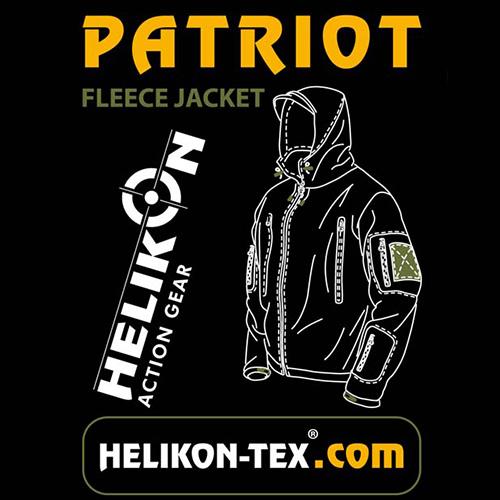 Bunda PATRIOT Heavy fleece ČIERNA Helikon-Tex® BL-PAT-HF-01 L-11