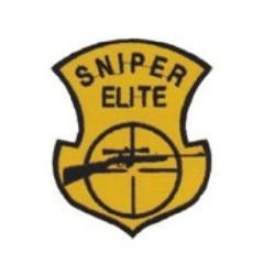Nášivka SNIPER ELITE s odstřelovací puškou ŽLUTÁ