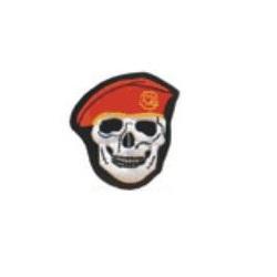 Nášivka LEBKA baret v barvě ORANŽOVÉ