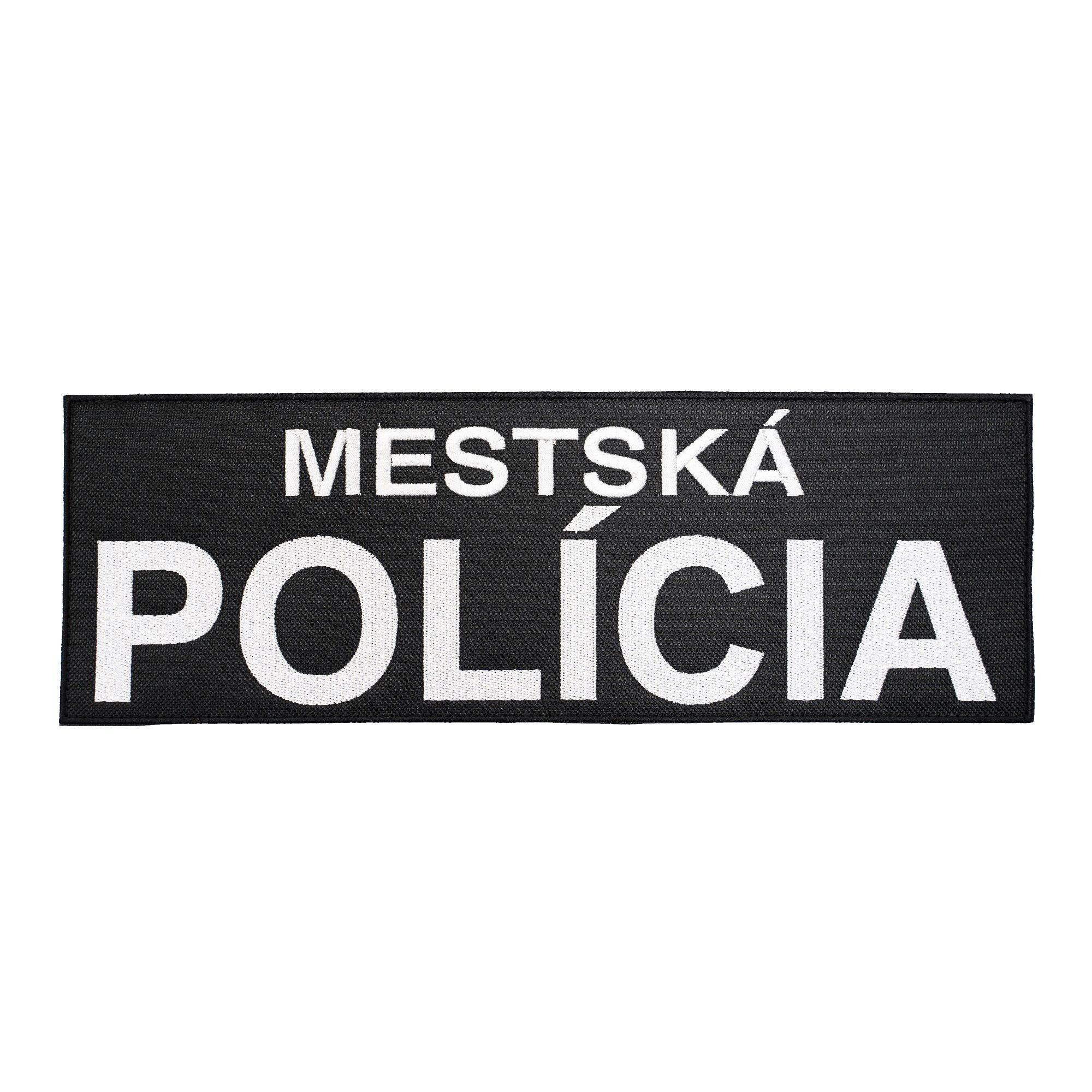 Nášivka MESTSKÁ POLÍCIA veľká velcro ČIERNA