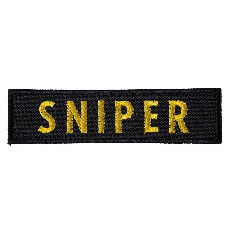 Nášivka SNIPER - ČERNÁ se žlutou nití