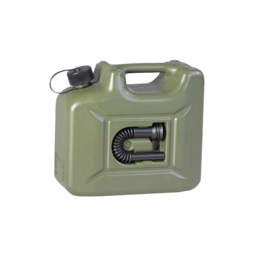 Kanister palivový plastový s lievikom 10 litrov KHAKI