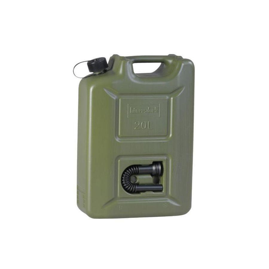 Kanister palivový plastový s lievikom 20 litrov KHAKI