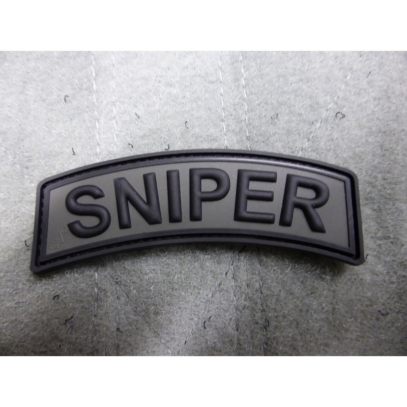 Nášivka oblúčik SNIPER velcro plast SIVÁ
