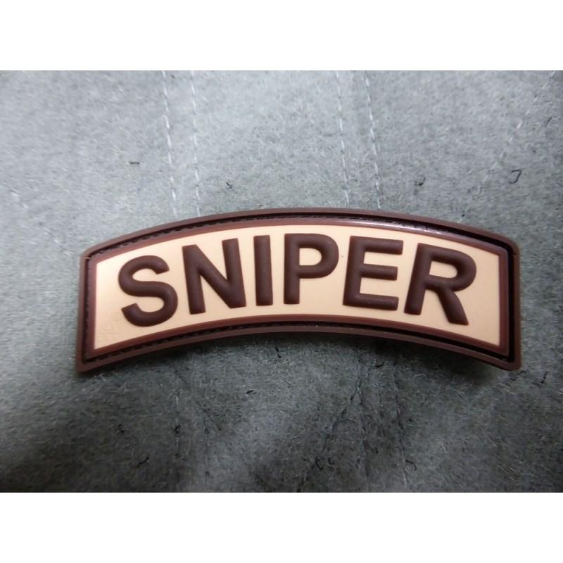 Nášivka oblúčik SNIPER velcro plast DESERT