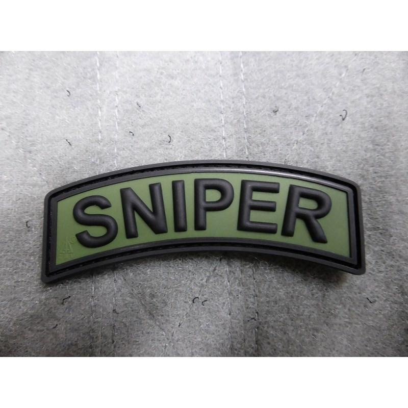 Nášivka oblúčik SNIPER velcro plast ZELENÁ