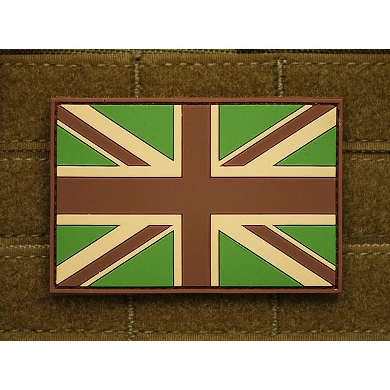 Nášivka vlajka VEĽKÁ BRITÁNIA plast velcro veľká MULTICAM