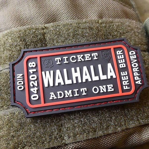 Nášivka WALHALLA TICKET BEER plast velcro SWAT