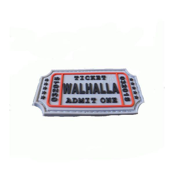 Nášivka WALHALLA TICKET plast velcro SVETLO MODRÁ
