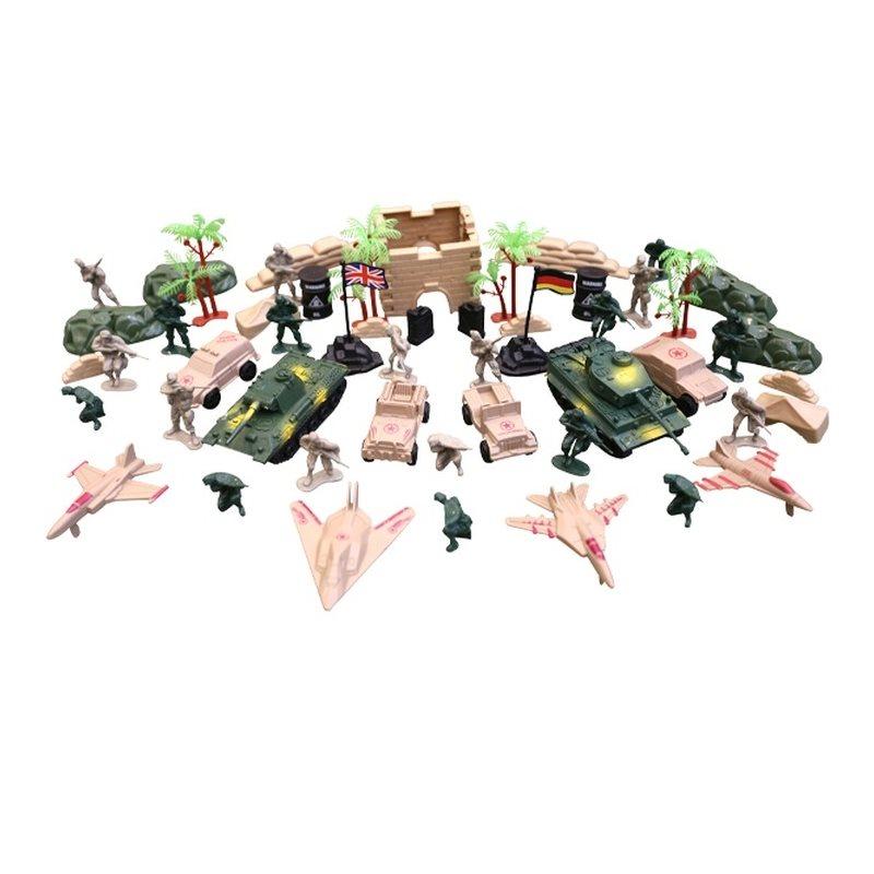Sada hračiek - plastových modelov KOMBAT FORCE 64 kusov