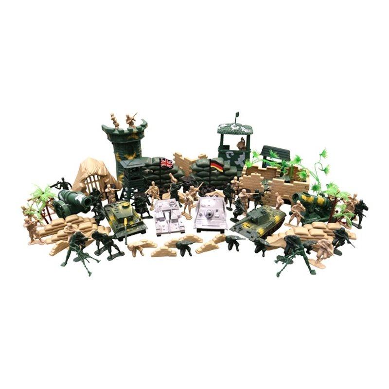 Sada hračiek - plastových modelov KOMBAT FORCE 100 kusov