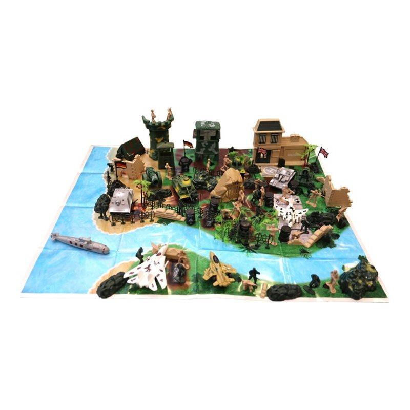 Sada hračiek - plastových modelov KOMBAT FORCE 130 kusov