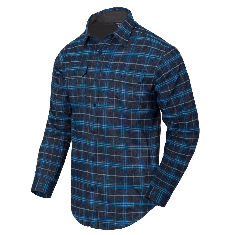 Košeľa GREYMAN dlhý rukáv BLUE STONEWORK PLAID