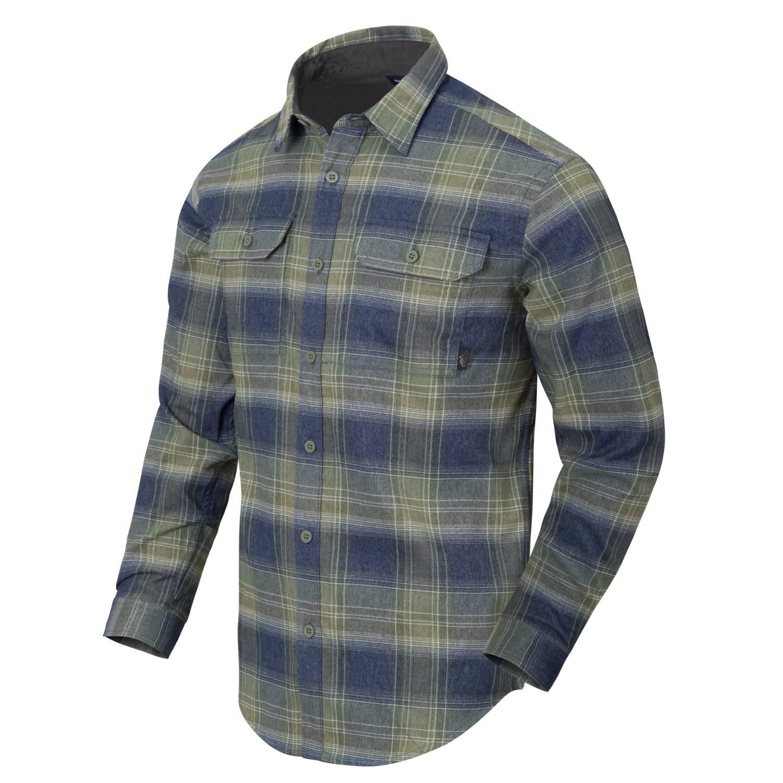 Košeľa GREYMAN dlhý rukáv BLAST BLUE PLAID