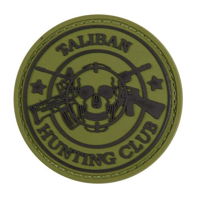 Nášivka TALIBAN HUNTING CLUB plast velcro ZELENÁ