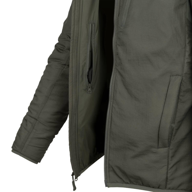 Bunda WOLFHOUND s kapucňou ALPHA GREEN Helikon-Tex® KU-WLH-NL-36 L-11