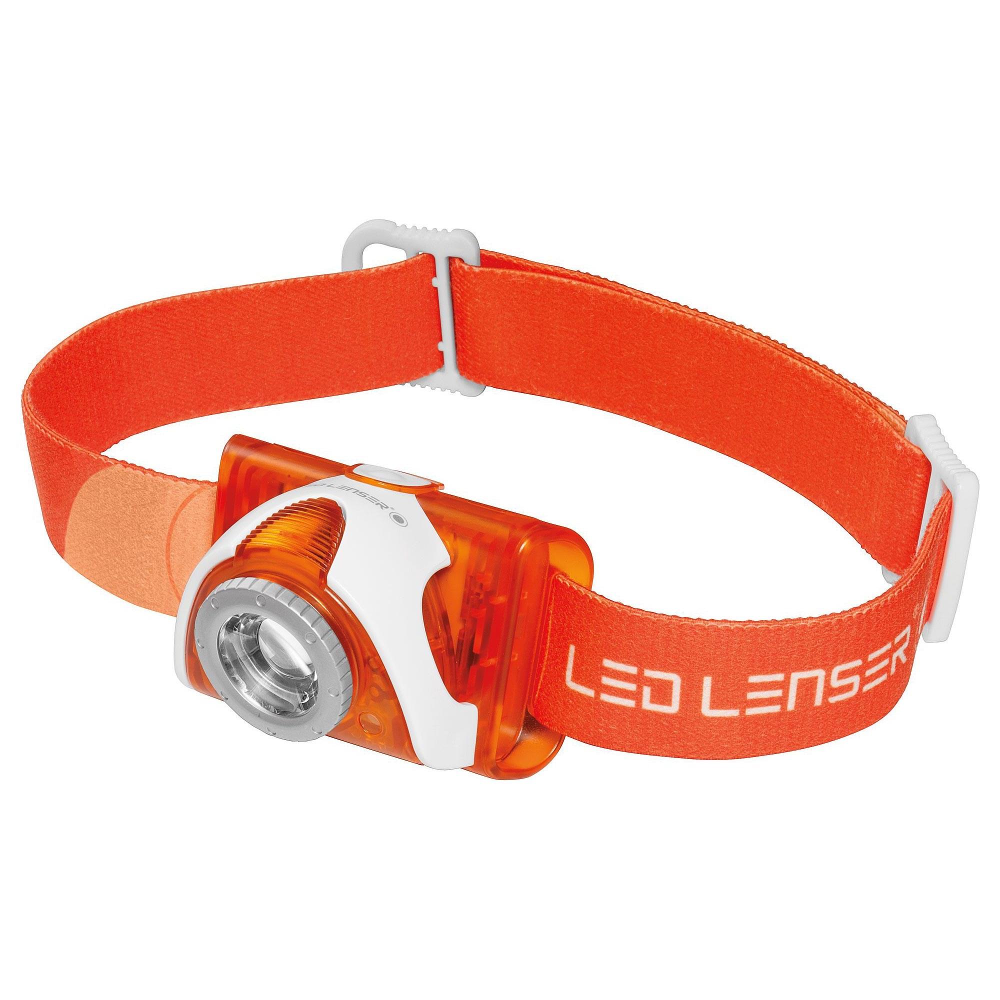 Svietidlo čelové LED LENSER® SEO 3 ORANGE