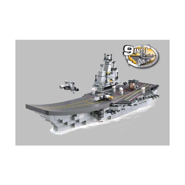 Stavebnica 9v1 lietadlová loď, člny, vozidlá a ďalšie