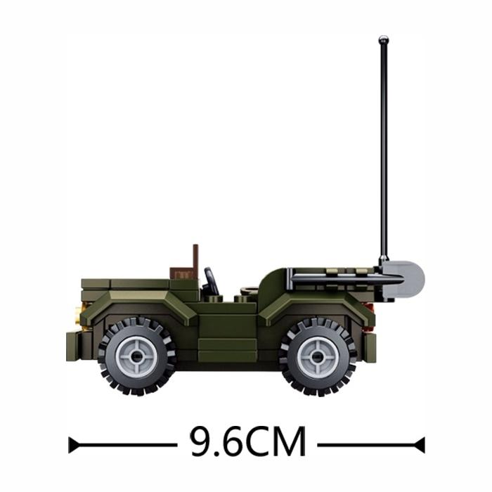 Stavebnica JEEP Sluban M38-B0587F L-11