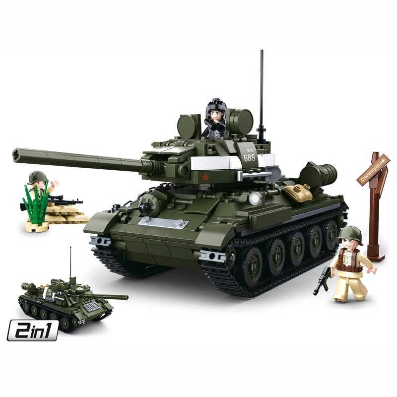 Stavebnica SOVIETSKY TANK T-34/85 2v1