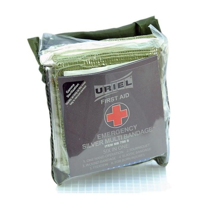 Obväz taktický viacúčelový Uriel Silver Multi Bandage
