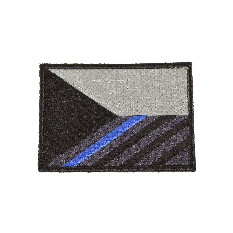 Nášivka vlajka ČR modrý pruh 7,5 x 5,5 cm velcro