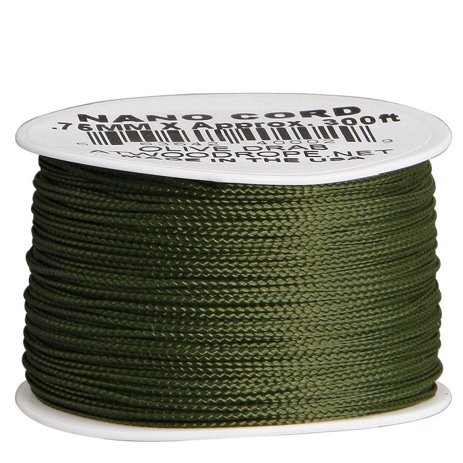 Šnúra NANO PARACORD 0,75mm / 90m Olive Drap