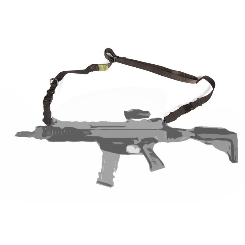 Popruh na zbraň 1-2 bodový ČIERNY