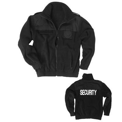 Bunda SECURITY fleece ČIERNA