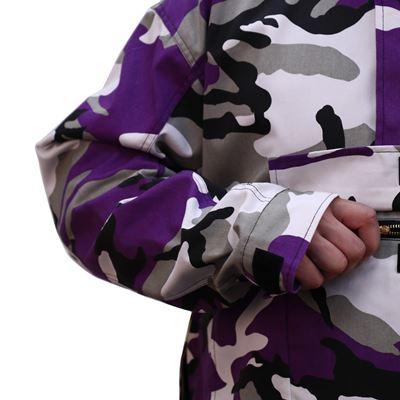 Bunda s kapucňou PARKA US VIOLET CAMO