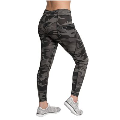 Legíny WORKOUT s vreckami BLACK CAMO