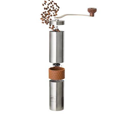 Mlynček ručný CAMP na zrnkovú kávu NEREZ OCEĽ