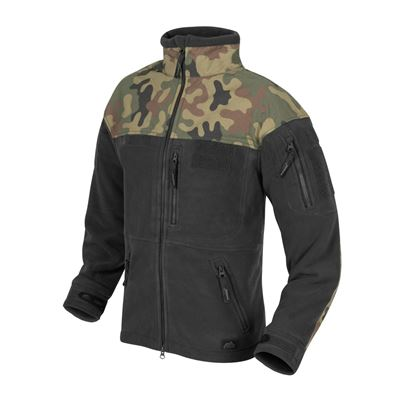 Bunda INFANTRY fleece ČIERNA/WOODLAND PL