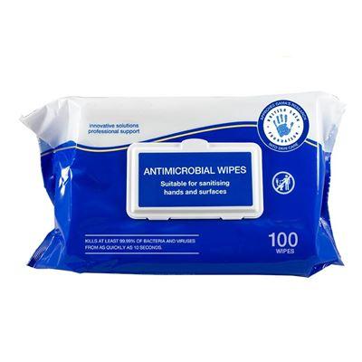 Obrúsky čistiace antimikrobiálne 100 kusov