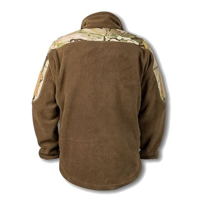 Bunda fleece RAVEN s ramenami MULTICAM